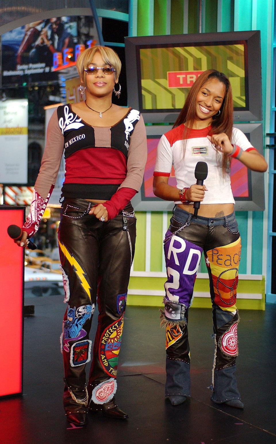 <p>T-Boz and Chilli of TLC made an appearance on <b>TRL</b> in 2002.</p>