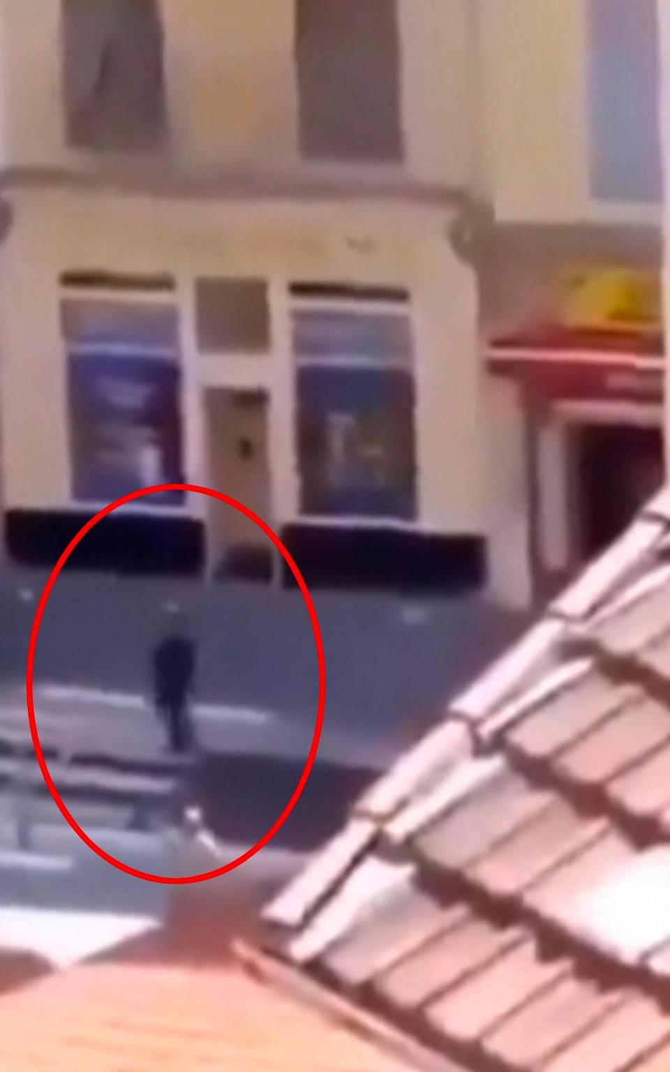 Local TV images after a second France in Avignon shows a man wielding a gun - Universal News And Sport (Scotland)/UNPIXS (EUROPE)