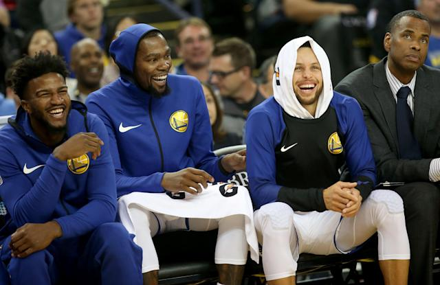 Vegas likes the Warriors, for obvious reasons. (Getty Images)