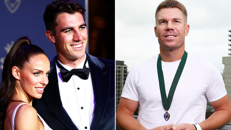 Pat Cummins and David Warner, pictured here at the Australian Cricket Awards.