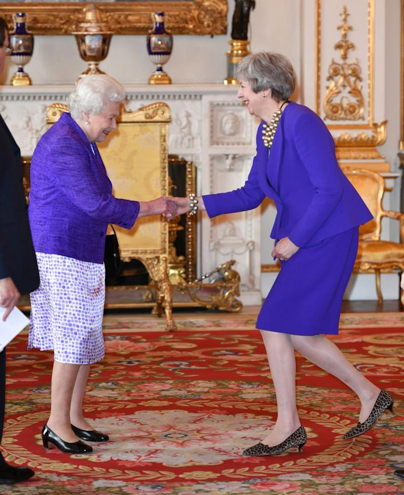 Queen Elizabeth and British Prime Minister Theresa May