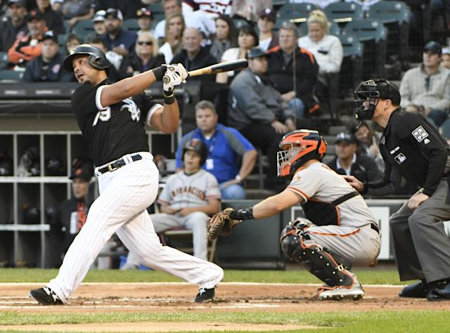 Jose Abreu crushed the Giants Saturday, completing the sixth cycle in White Sox history. (Getty Images)