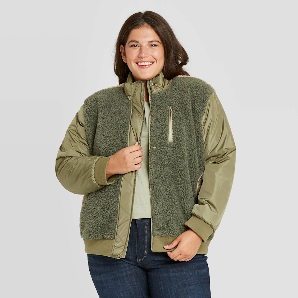 "<br><br><strong>Universal Thread</strong> Utility Sherpa Jacket, $, available at <a href=""https://go.skimresources.com/?id=30283X879131&url=https%3A%2F%2Fgoto.target.com%2FBjJ39"" rel=""nofollow noopener"" target=""_blank"" data-ylk=""slk:Target"" class=""link rapid-noclick-resp"">Target</a>"
