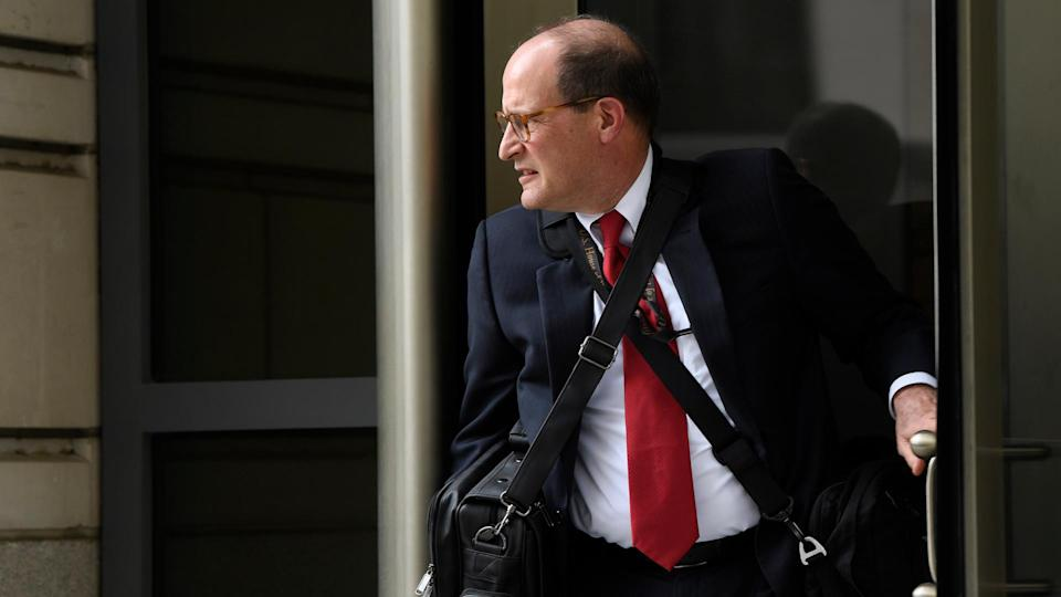 Mandatory Credit: Photo by Susan Walsh/AP/Shutterstock (10237136a)Attorney Douglas Letter, who is representing House Democrats, leaves federal court in WashingtonTrump Taxes, Washington, USA - 14 May 2019.
