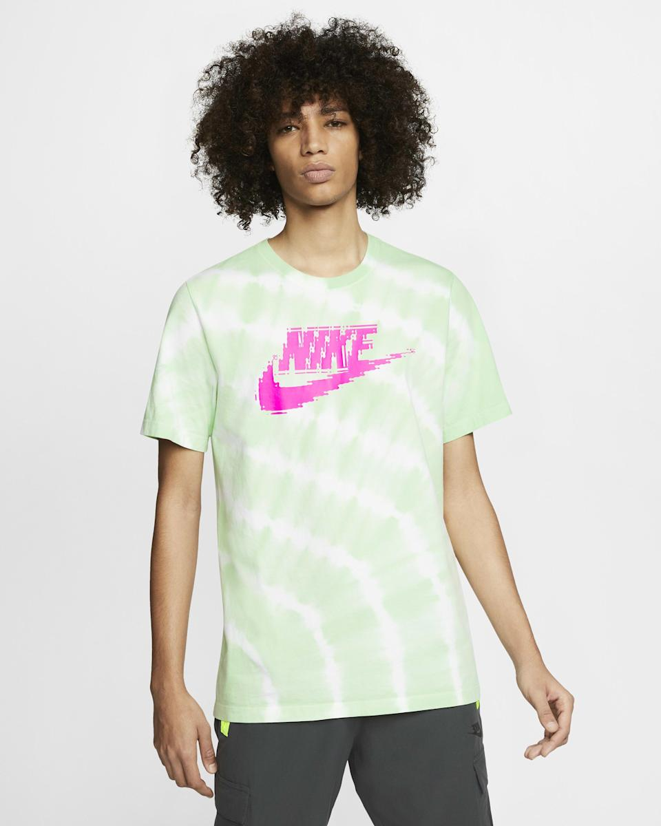 """<p><strong>Nike</strong></p><p>nike.com</p><p><strong>$24.97</strong></p><p><a href=""""https://go.redirectingat.com?id=74968X1596630&url=https%3A%2F%2Fwww.nike.com%2Ft%2Fsportswear-mens-tie-dye-t-shirt-8W9wXC&sref=https%3A%2F%2Fwww.seventeen.com%2Flife%2Fg23515577%2Fcool-gifts-for-teen-boys%2F"""" rel=""""nofollow noopener"""" target=""""_blank"""" data-ylk=""""slk:Shop Now"""" class=""""link rapid-noclick-resp"""">Shop Now</a></p><p>The Nike swoosh, the neon colors, the tie-dye print – it's like all of 2020's fashion trends combined into one sickening tee.</p>"""