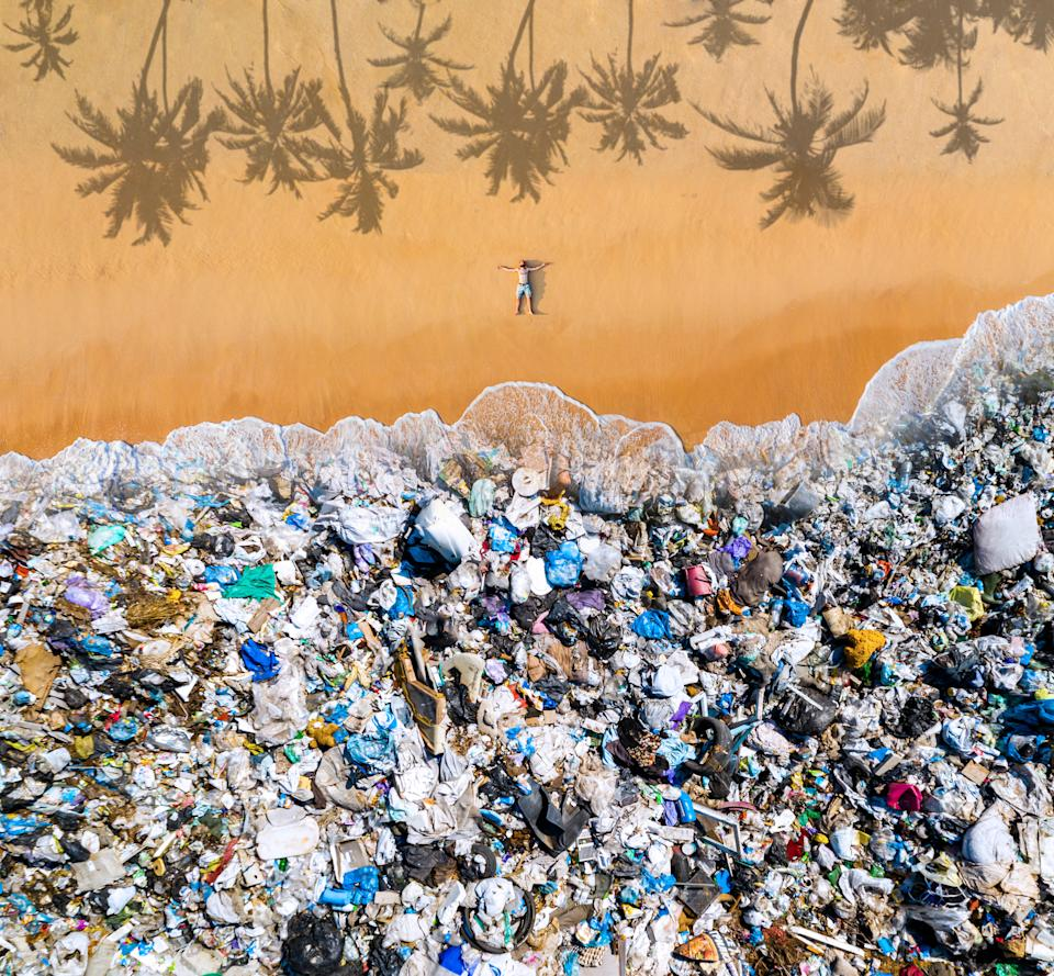 The concept of environmental pollution, non-decomposable plastic, increased debris in the world's oceans.
