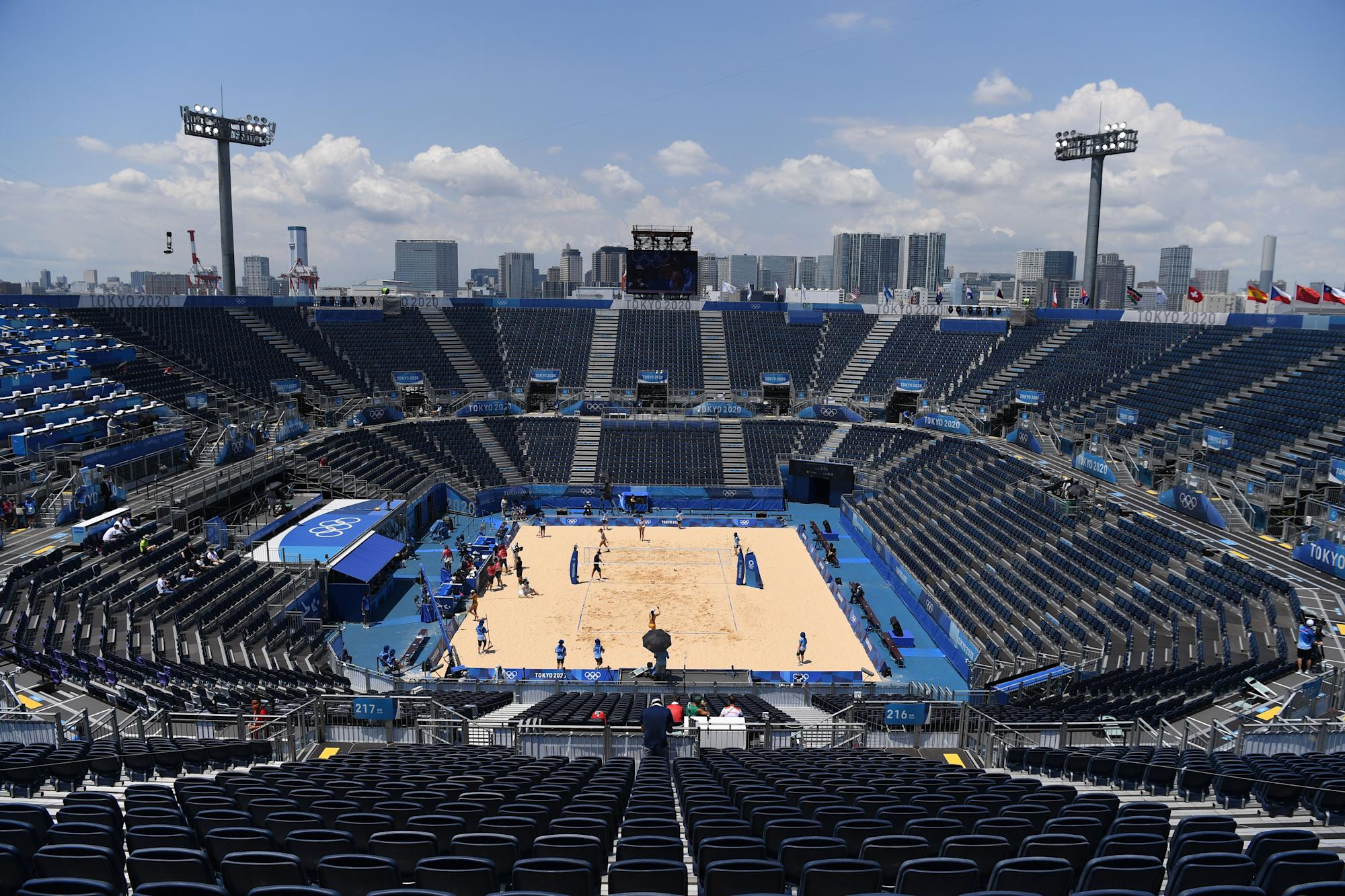 First Olympic beach volleyball match canceled after positive COVID test