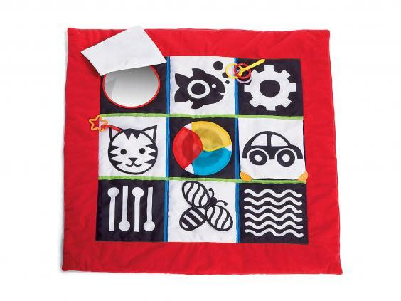 This mat is a creative space for them to learn to crawl and discover new sounds and textures (Amazon)