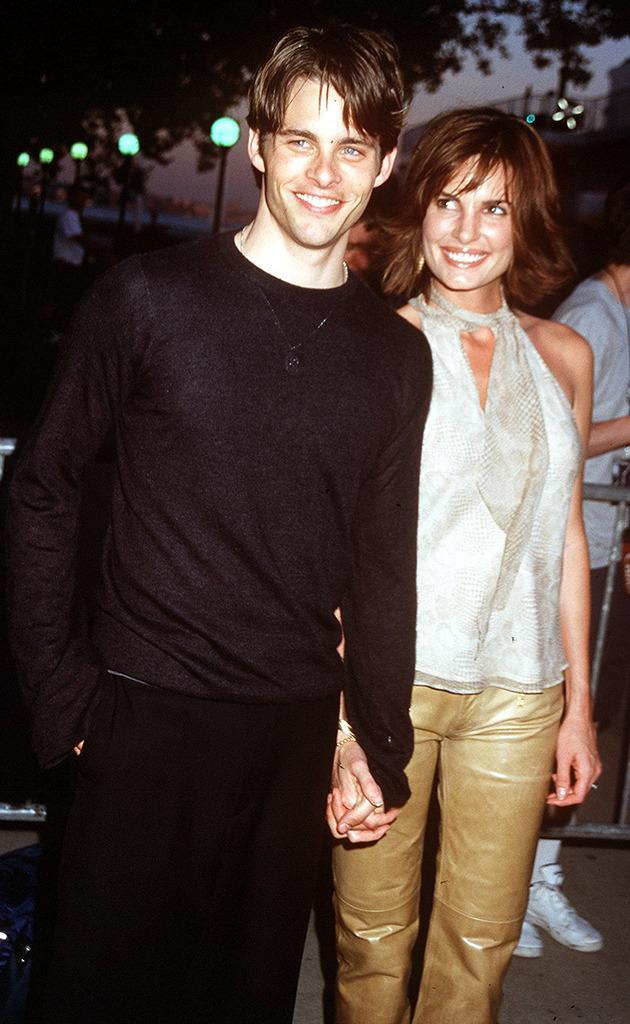 <p>One of Marsden's first major film roles was as Cyclops in <i>X-Men</i>. He arrived to the premiere with his then-fiancée Lisa Linde. After having two children, the pair divorced in 2011. <i>(Photo: Albert L. Ortega/WireImage)</i></p>