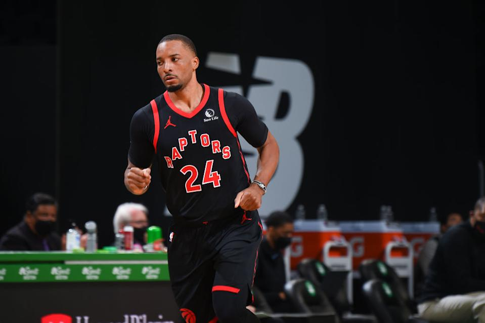 Norman Powell is averaging 19.5 points, 3 rebounds, and 1.8 assists this season for the Raptors. (Getty)
