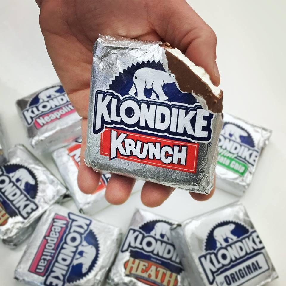 """<p>The creator of Klondike bars designed them to be an """"adult"""" snack, which is why you won't find them on a stick. We always thought that silver, foil wrapper looked grown-up!</p>"""