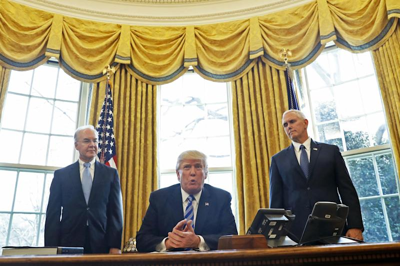 The US President suffered a humiliating defeat this week with the failure of his new healthcare bill: AP
