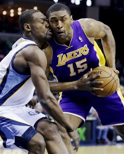 Metta World Peace played for the Lakers from 2009-13. (AP)