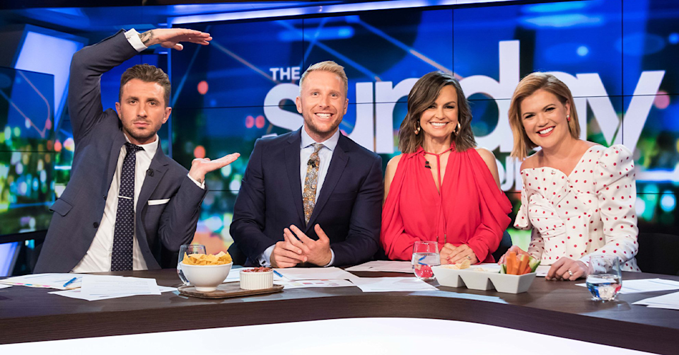 Tommy Little, Hamish Macdonald, Lisa Wilkinson and Sarah Harris on The Project.