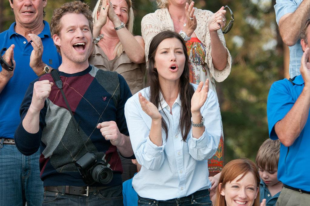 """James Tupper and Jessica Biel in FilmDistrict's """"Playing for Keeps"""" - 2012"""