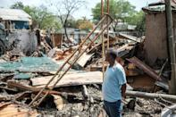 Destroyed properties in Ataye, Ethiopia after the recent flare-up of violence