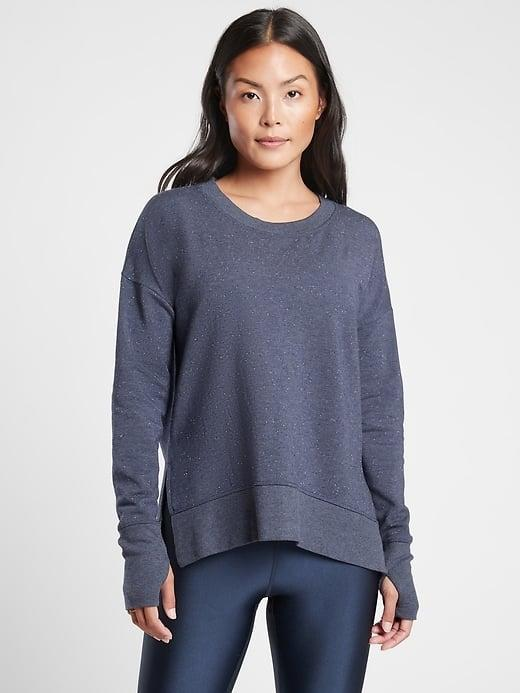<p>We love this super-soft <span>Athleta Balance Pullover</span> ($79) solo and as <span>part of a matching set</span>.</p>