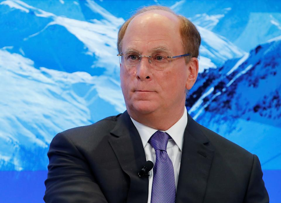 Laurence D. Fink, Chairman and Chief Executive Officer of BlackRock, attends the World Economic Forum (WEF) annual meeting in Davos, Switzerland January 25, 2018. REUTERS/Denis Balibouse