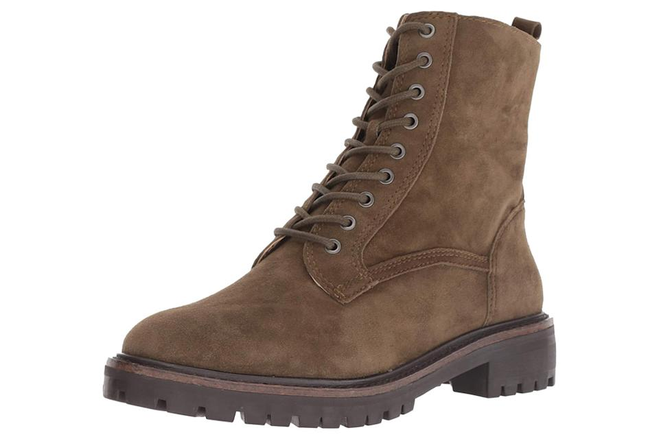 brown boots, lace up, hiking, combat, lucky