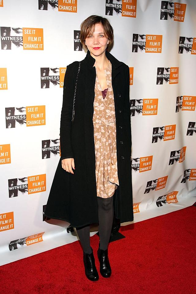 "If Maggie Gyllenhaal ever wants to be considered a true movie star, perhaps she should consider dressing like one ... especially on the red carpet! Bryan Bedder/<a href=""http://www.gettyimages.com/"" target=""new"">GettyImages.com</a> - November 20, 2008"