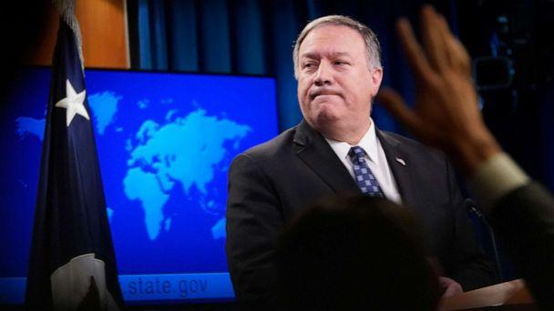 PHOTO: Secretary of State Mike Pompeo speaks at the State Department, Jan. 7, 2020, in Washington, D.C. (Win Mcnamee/Getty Images)
