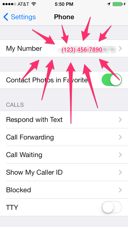Heres how to find your own phone number on your iphone view photos ccuart Gallery