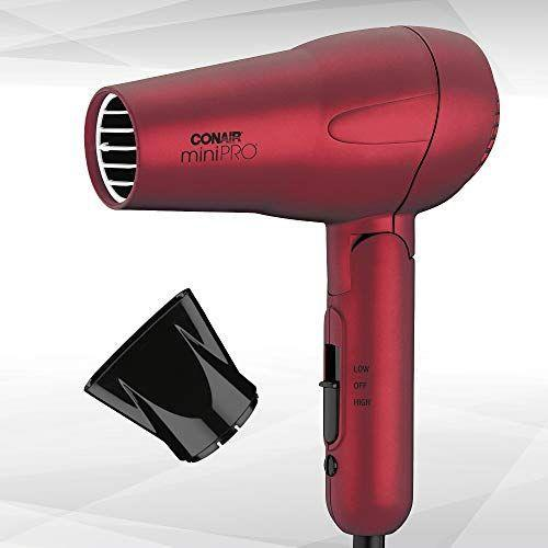 """<p><strong>Conair</strong></p><p>amazon.com</p><p><strong>$19.57</strong></p><p><a href=""""https://www.amazon.com/dp/B00H34644M?tag=syn-yahoo-20&ascsubtag=%5Bartid%7C10055.g.29024275%5Bsrc%7Cyahoo-us"""" rel=""""nofollow noopener"""" target=""""_blank"""" data-ylk=""""slk:Shop Now"""" class=""""link rapid-noclick-resp"""">Shop Now</a></p><p>It may be mini, but with dual voltage, a 2 speed settings and a concentrator, this blow dryer gets the job done. Plus, there's a folding handle that makes this dryer travel friendly.</p>"""