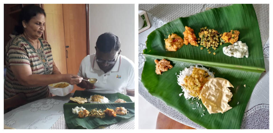 Sithaletchemy is glad that she is still able to celebrate Ponggal with her close friends amid the CMCO. — Picture courtesy of Sithaletchemy Krishnaiyer