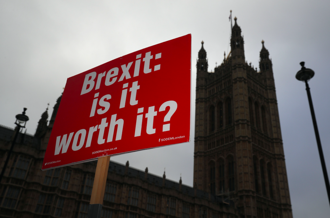 <p>Brexit is still on everyone's lips – and their fingertips, being the most searched news story of the year. (Getty) </p>
