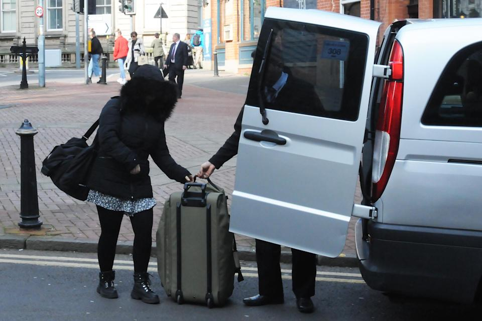 Alice Cutter arriving at Birmingham Crown Court. (PA)