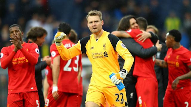 HD Simon Mignolet Liverpool celebrate