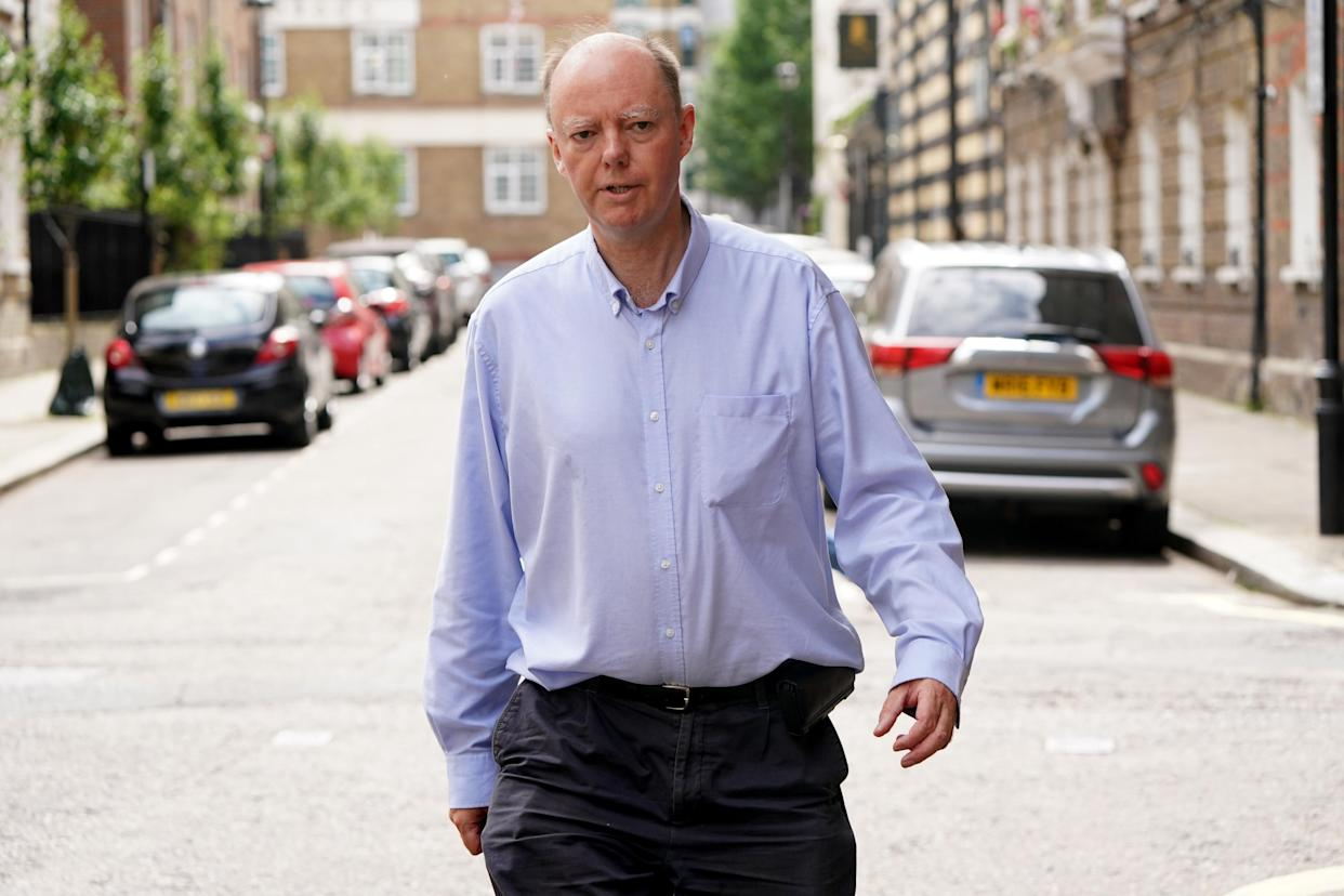 England�s chief medical officer Professor Chris Whitty, outside the Department of Health, in central London, he has declined to comment on Matt Hancock�s actions. Picture date: Friday June 25, 2021.