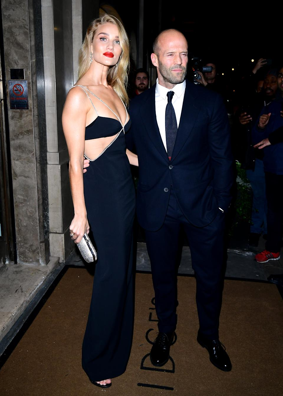 Rosie Huntington-Whiteley topped the best dressed list in a cut-out diamante detail dress. [Photo: Getty]