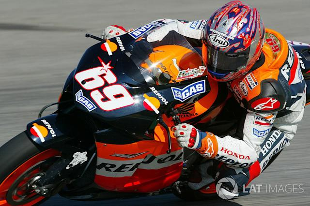"2004. Nicky Hayden <span class=""copyright"">Gold and Goose / Motorsport Images</span>"