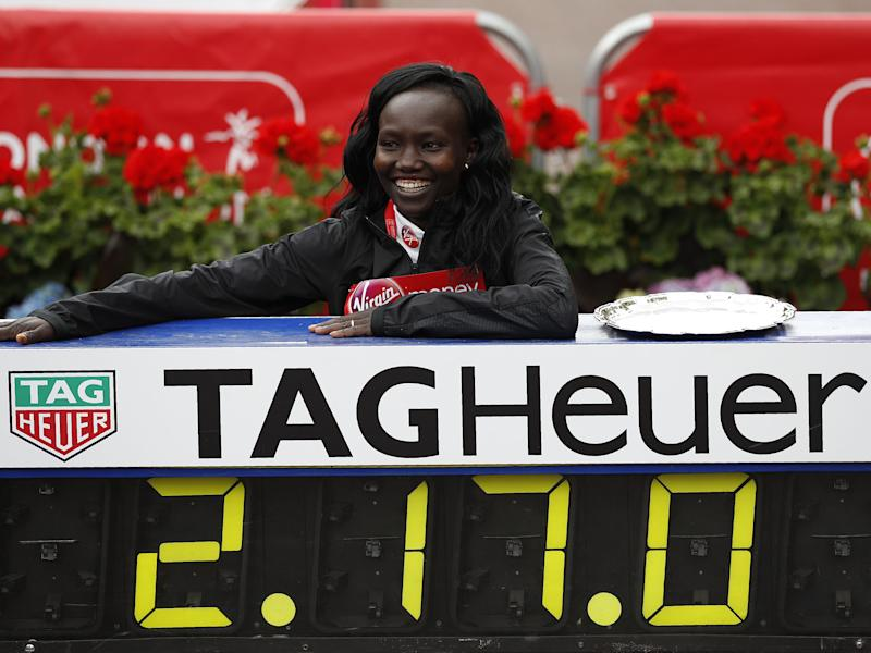 Mary Keitany broke Paula Radcliffe's 12-year 'women's only' record: Getty