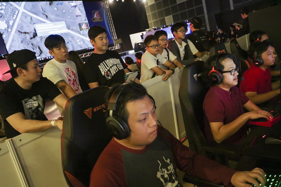 <p>E-sports gamers competing in the CPL-PUBG Championship at the Asia Game Festival 2018. (PHOTO: Don Wong) </p>