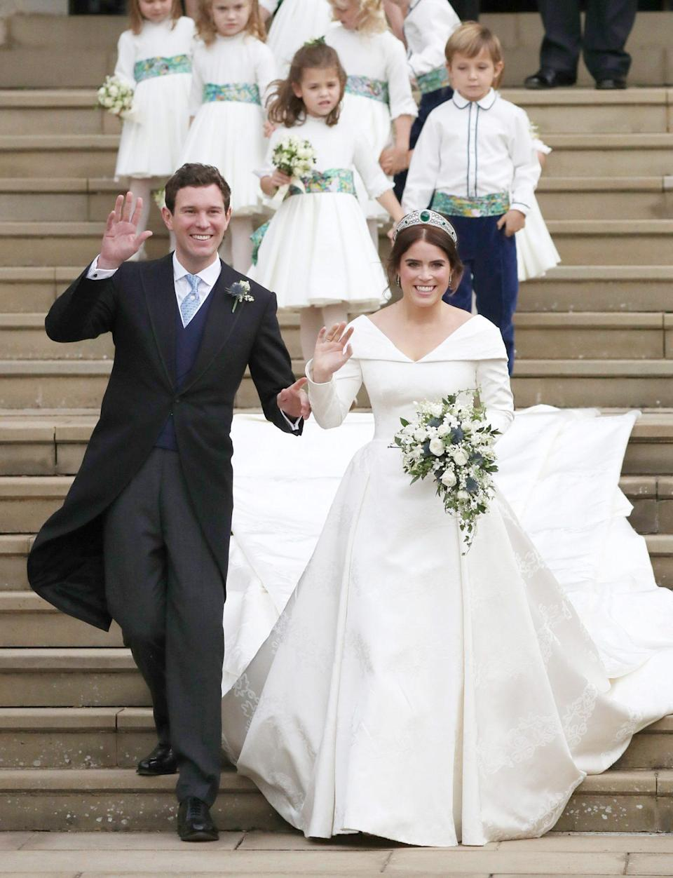 "<p>""This was the greatest day of my life...forever and always!"" Eugenie wrote on Instagram on their first anniversary.</p>"