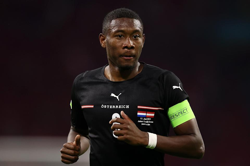 Captain David Alaba wasn't as affective as he usually is for Austria (Getty Images)