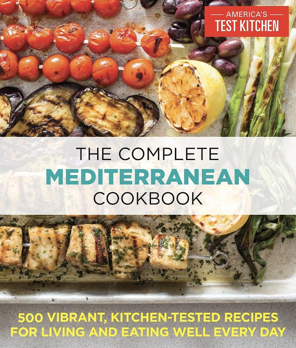 <p>One of the most popular diets, the Mediterranean diet is not only good for your gut, but also good for your heart and cognitive health. <span><strong>The Complete Mediterranean Cookbook: 500 Vibrant, Kitchen-Tested Recipes for Living and Eating Well Every Day</strong></span> ($20) has over 500 recipes from Italy, Greece, Egypt, Morocco, Turkey, and Lebanon. The diet is heavy on anti-inflammatory foods, like fish and vegetables, with fewer recipes devoted to meat and poultry. With over 3,000 5-star Amazon ratings, this cookbook definitely deserves to be added to your rotation.</p>