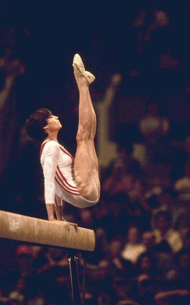 <span>Nadia Comaneci during her heyday</span>