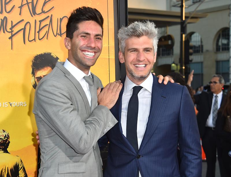 Nev Schulman and Max Joseph attend the premiere of   We Are Your Friends at TCL Chinese Theatre on August 20, 2015 in Hollywood, California. (Photo: Alberto E. Rodriguez/Getty Images)