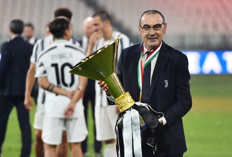 Sarri still being questioned about future despite Serie A title