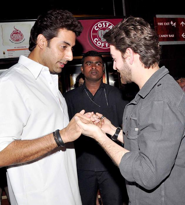 Abhishek Bachchan shakes hands with Neil Nitin Mukesh