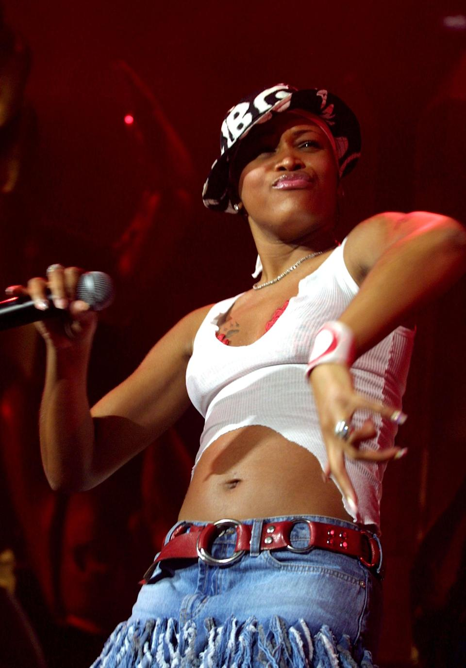 <p>Rapper Eve performed during MTV's <b>TRL</b> tour in 2001 in Las Vegas.</p>