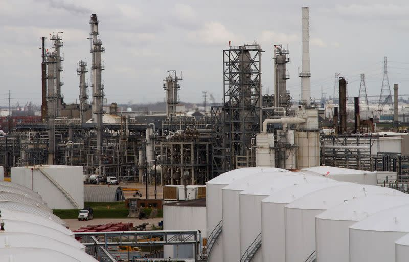 FILE PHOTO: An oil refinery and storage facility is pictured south of downtown Houston