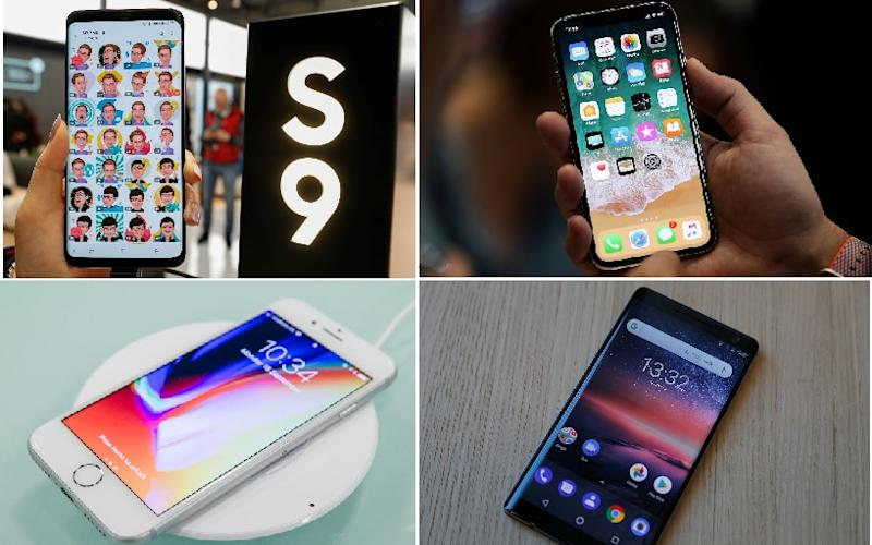 Samsung Galaxy S9, iPhone X, iPhone 8 and Nokia 8 - Reuters/Bloomberg/Telegraph