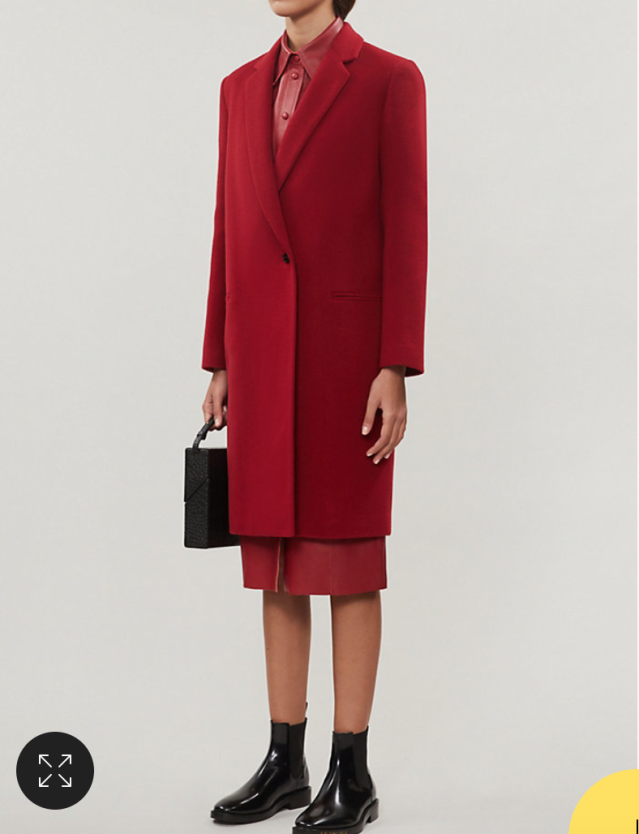 CLAUDIE PIERLOT Single-breasted wool-blend coat