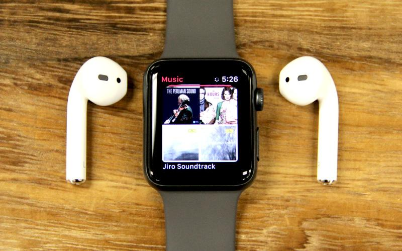 Cellular connectivity means you can stream Apple Music directly from your Apple Watch to your Bluetooth wireless headphones.