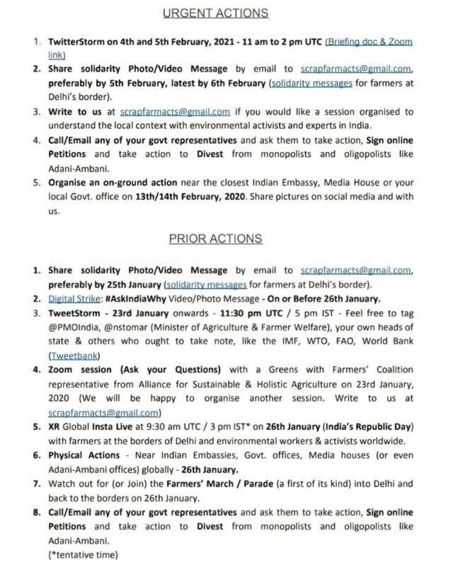 first page of the 'toolkit' on how to protest