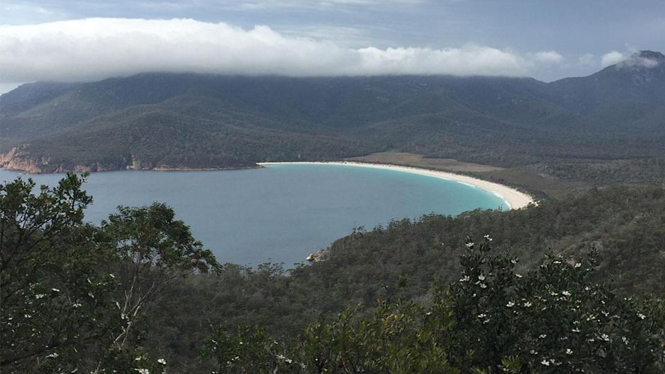 For keen hiker, Saffire offers a guided walk to a lookout over Wineglass Bay. Photo: Lucy-Mae Beers